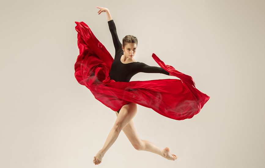 dancer-in-a-red-and-black-dress